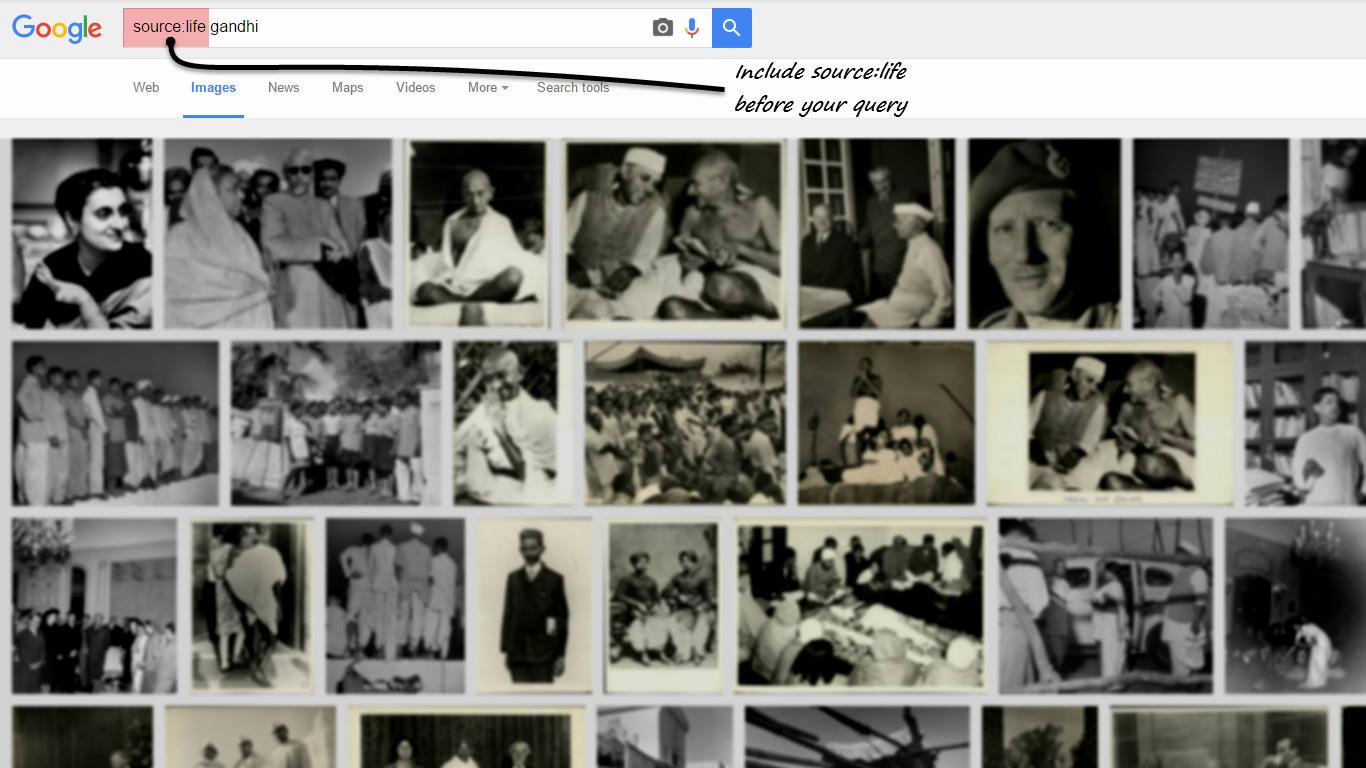 Google LIFE stock photos with google images