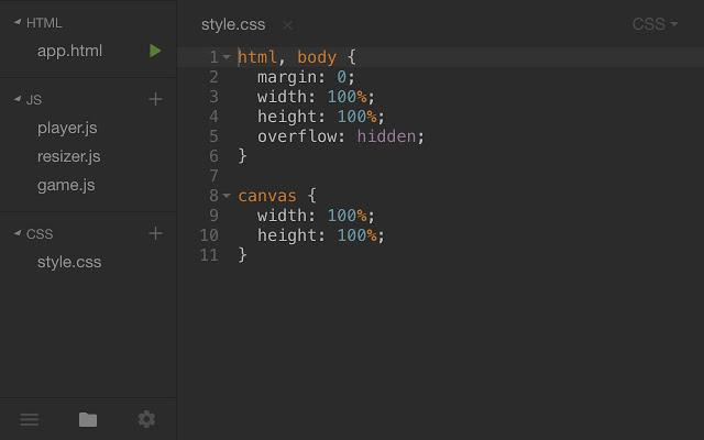 Playcode code editor