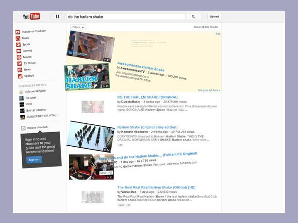 Top 10 youtube tricks by codegena.com : The best youtube easter eggs. Make youtube do harlem shake!