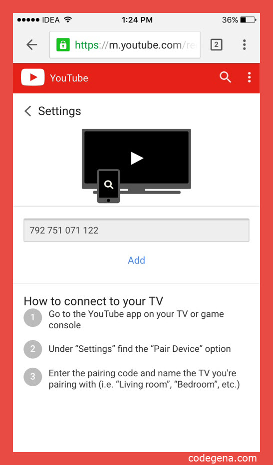 youtube-TV-pairing-on-mobile