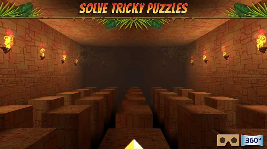 Hidden temple is a VR adventure game. You have to solve tricky puzzles to come out of the temple.