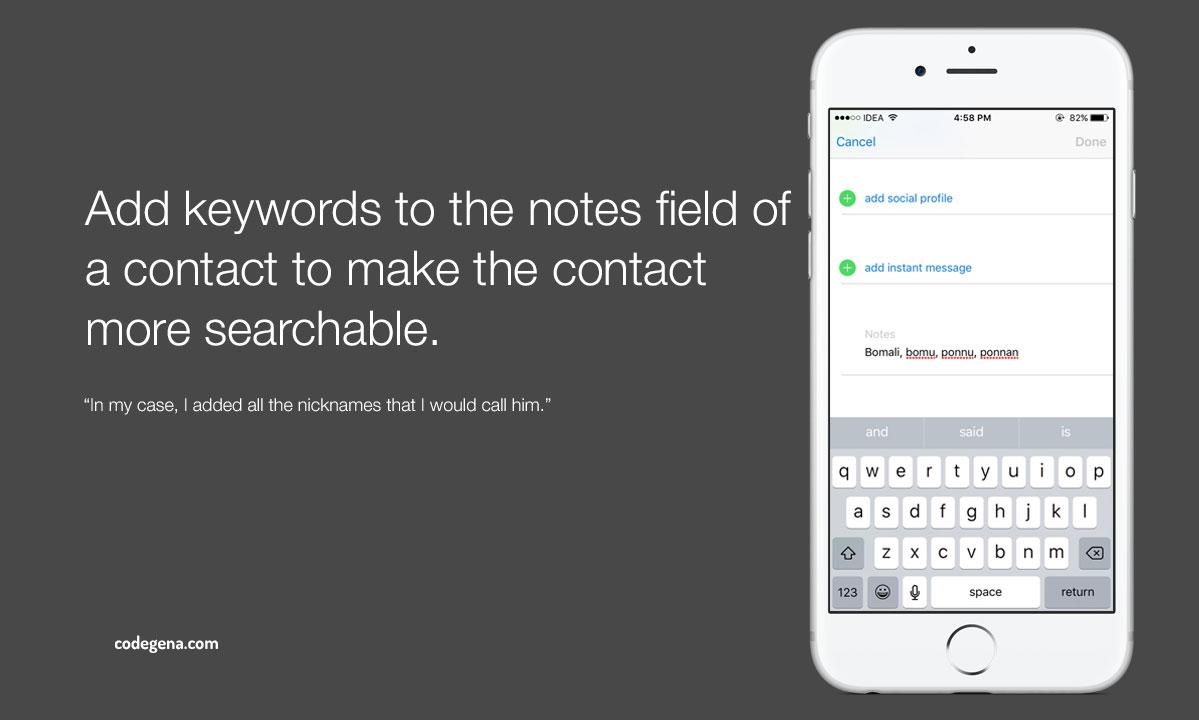 make-contact-searchable