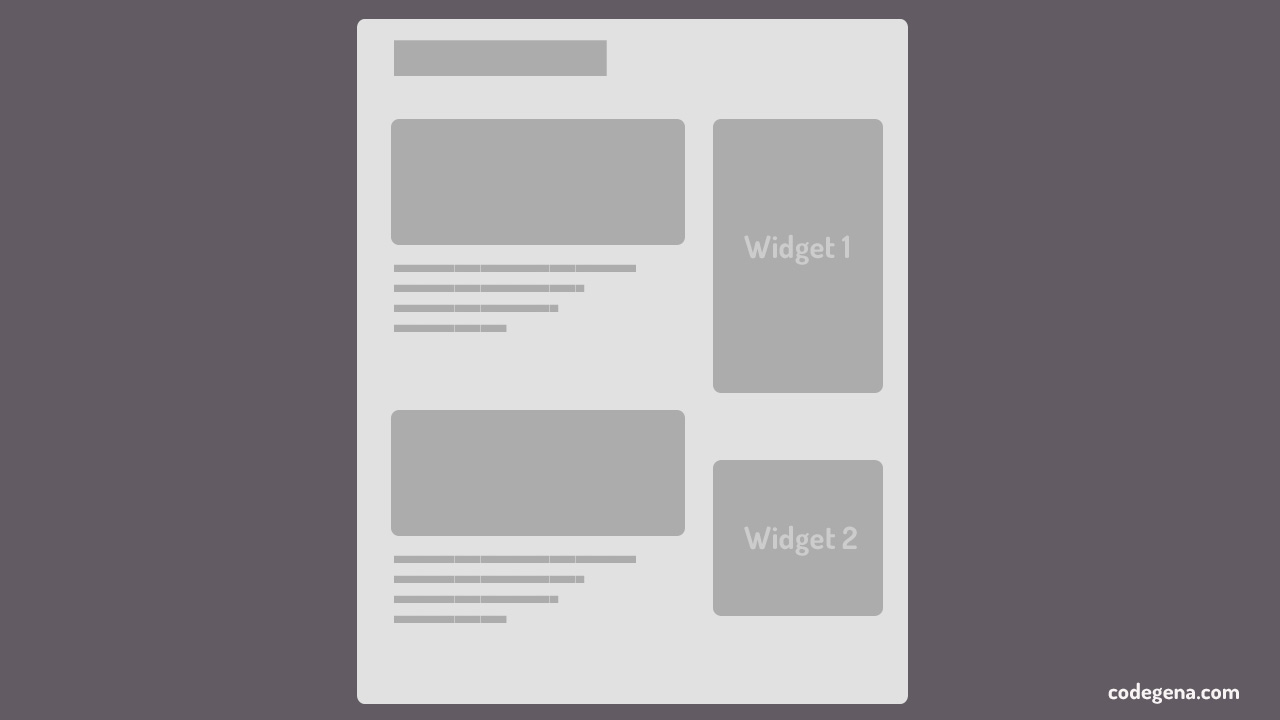 limit number of widgets on hompage