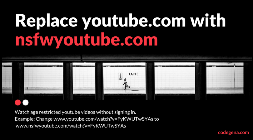 watch age restricted youtube video without signing in with nsfwyoutube