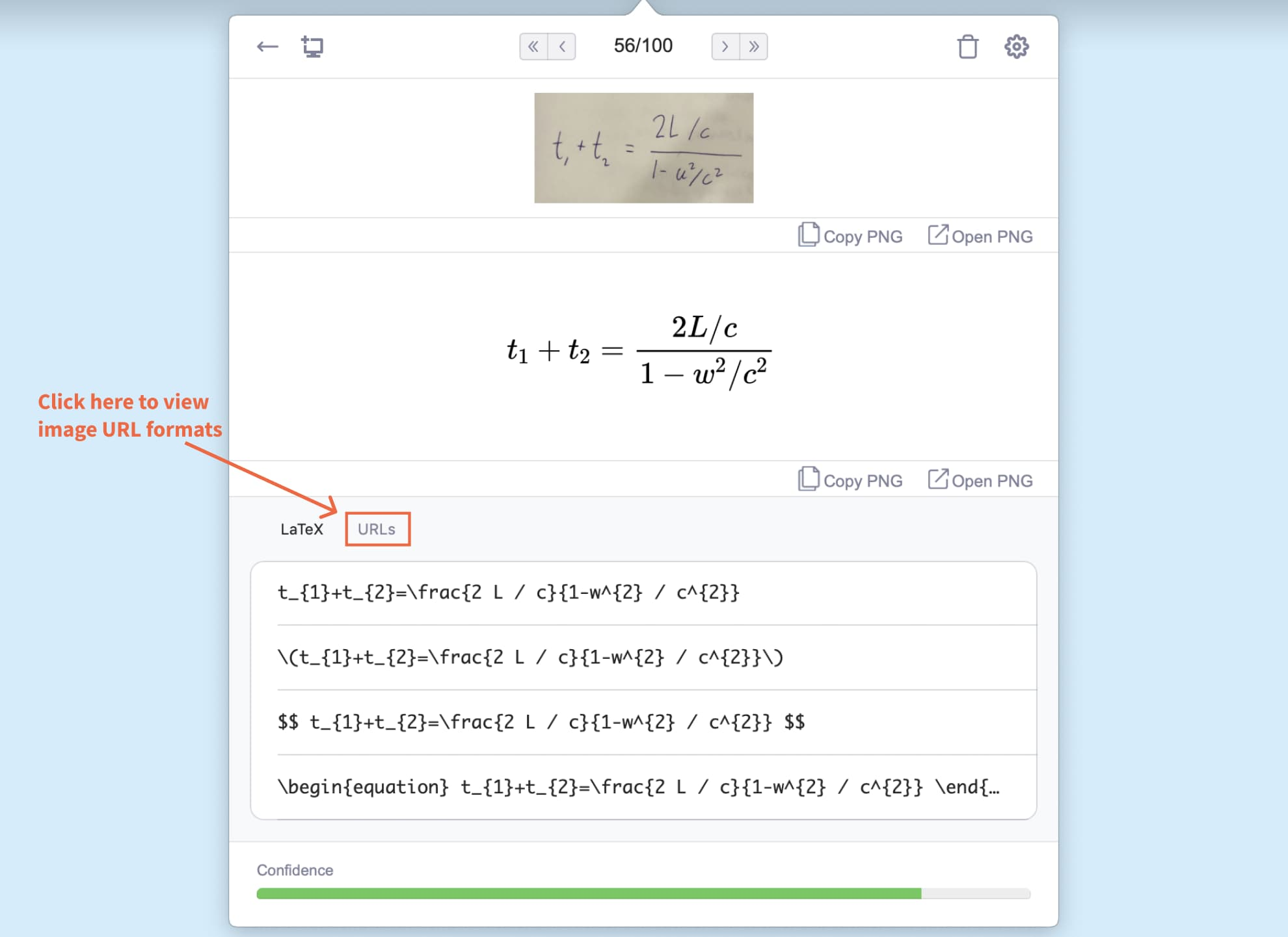 mathpix can magically create latex equations from a photo. Get 100 snips per month with matpix student discount plan.