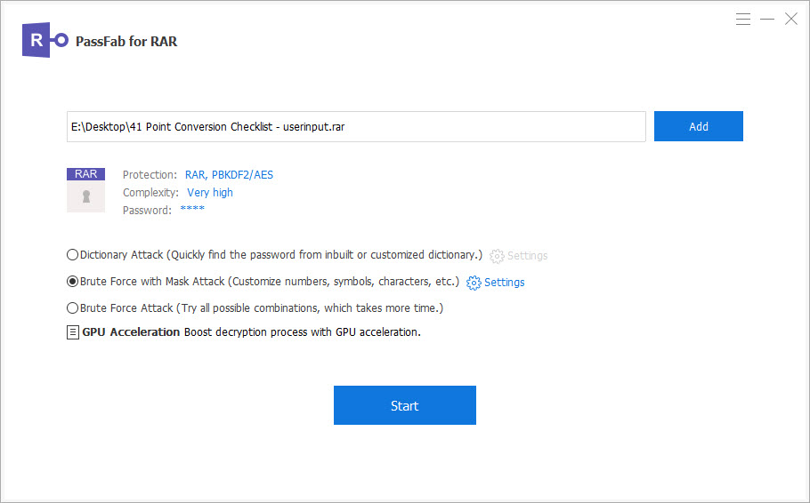 Crack RAR Password with PassFab for RAR